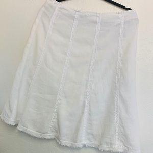 Boden  Boho White Skirt 14